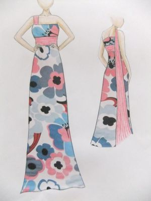 Cute long flower dress~