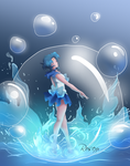 Sailor Mercury-Water and Wisdom by rose15XX