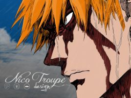 Ichigo close-up drew on Ipad by TrouperDNico