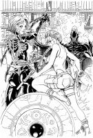 WITCHBLADE and TOMBRAIDER inks by Wes-StClaire