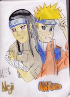 Naruto and Neji for ND by EveHarding92