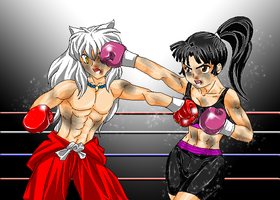 Sango Vs InuYasha by anbx by Patriot1776