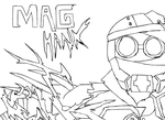 MAG Hank Line art by Madmanaryf
