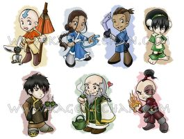 Avatar Chibi's Part 1 by I-heart-Link