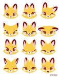 Ady Foxy faces by Kitsune-Megamisama