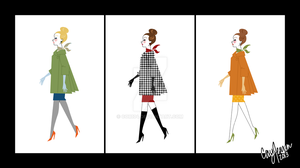 Retro Fashion Lineup by Cor104