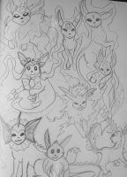 eeveelution army by Comix-Chick