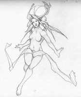 Winter Sketchbook '11 - Demona by LMJWorks
