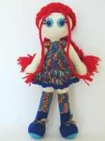 Handmade art doll Elizabeth 1 by KooKooCraft