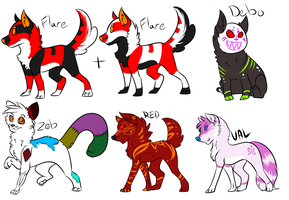 More old OC Adopts CLOSED by InfectedZombieX