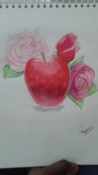 Apple and Roses by Sapphirelotus34