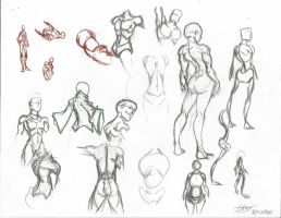 Body and Back Sketches by Dreballin3x
