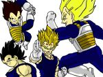 The different stages of Vegeta by Tartan-Faerie