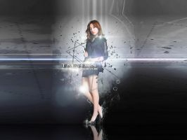 TAEYEON G-STAR RAW WALLPAPER ver.2 by ExoticGeneration21