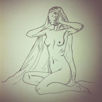Shawled Nude by eleanorbell