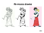 Kanaya and Rose.My process drawing by Svetlana543