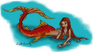 Selima the mermaid by PookaWitch