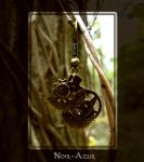 Steampunk earring by Noir-Azur