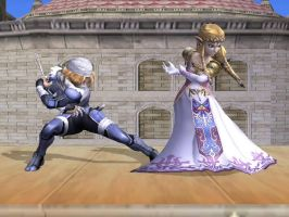 Sheik and Zelda by LilLaura6789