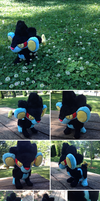 Luxray Plush by Glacdeas