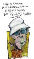Hunter S. Thompson by sketchoo