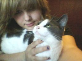 This is me. and My cat. Yeup. by Allixi