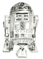 r2d2 sketch by bamboleo