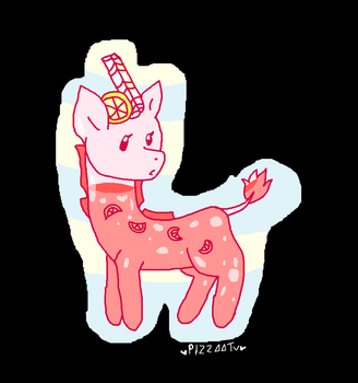 Closed species adoptable: Pink lemmonade Giraffe. by PizzaaTv
