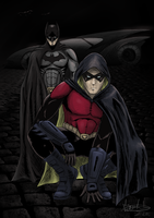 Batman and Robin by tonyzork