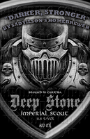 Deep Stone Beer Label by fuzi666