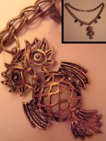 Wise Owl Necklace by omgitskmd