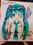 Hatsune Miku -Copic Artwork by Ry-thae