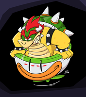 Here comes Bowser! by art-ikaro