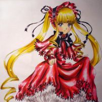 Rozen Maiden -- Shinku by Amelie-the-Fox