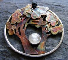 Harvest Moon Tree Necklace by MoonLitCreations
