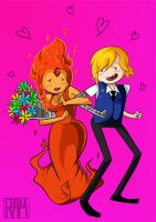 Finn x Flame Princess: Be My Valentine by SkullShrooms