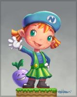 Mario Girl by Mark-Ito