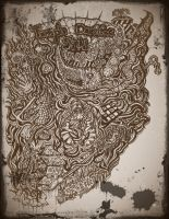 Pirate map of the sea, by Lablackandwhite