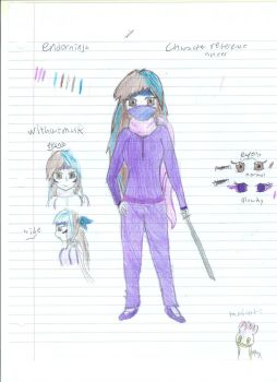 Character reference sheet: My avatar by Enderninja101