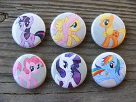 My Little Pony Buttons by CapsuleCorpButtons