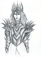 Sauron sketch by awesomeartano