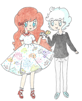 Stella and Miles by ambidextrious-witch