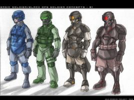 Soldiers Concept - 01 by ChickenDoodleSoup