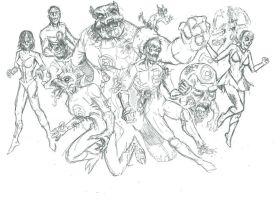 Green Lantern Corpses WIP by mothbot