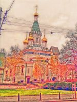 The Russian Church in Sofia, Bulgaria by stasiabv