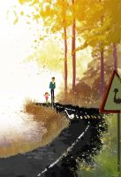 Bird Crossing by PascalCampion