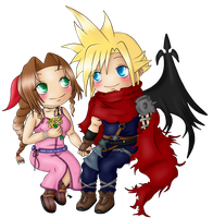 Chibi Request 05 -CloudxAerith by MissMinority