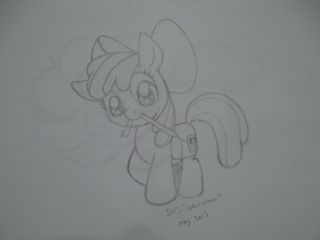 Applebloom's extra hair tie - commission by LateCustomer
