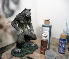 First werewolf done by airbrushing!! FOR SALE! by MeadowsPrivateShop