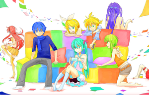 Rainbow Vocaloid by HiddenColor